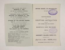 1909-10 Meidum, Memphis Exhibition catalogue PMA/WFP1/D/18/15.2