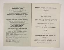 1909-10 Meidum, Memphis Exhibition catalogue PMA/WFP1/D/18/17.2