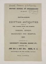 1910-11 Hawara, Gerzeh, Memphis, Mazghuneh Exhibition catalogue PMA/WFP1/D/19/34.1