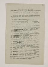 1910-11 Hawara, Gerzeh, Memphis, Mazghuneh Exhibition catalogue PMA/WFP1/D/19/34.11