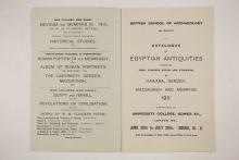 1910-11 Hawara, Gerzeh, Memphis, Mazghuneh Exhibition catalogue PMA/WFP1/D/19/34.2