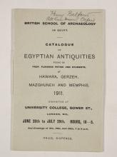 1910-11 Hawara, Gerzeh, Memphis, Mazghuneh Exhibition catalogue PMA/WFP1/D/19/35.1