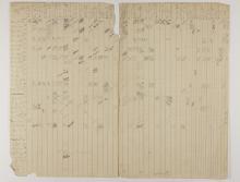 1913-14 Lahun, Haraga Distribution grid PMA/WFP1/D/22/1.1