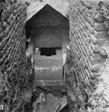 Photograph showing the 12th Dynasty tomb, number 306, at el-Riqqa. Engelbach 1915: plate III fig.1.
